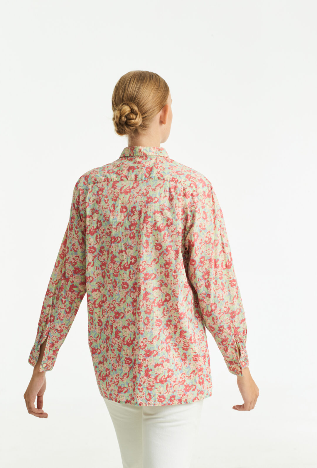 Floral printet vintage soft cotton shirt from Cacharel.