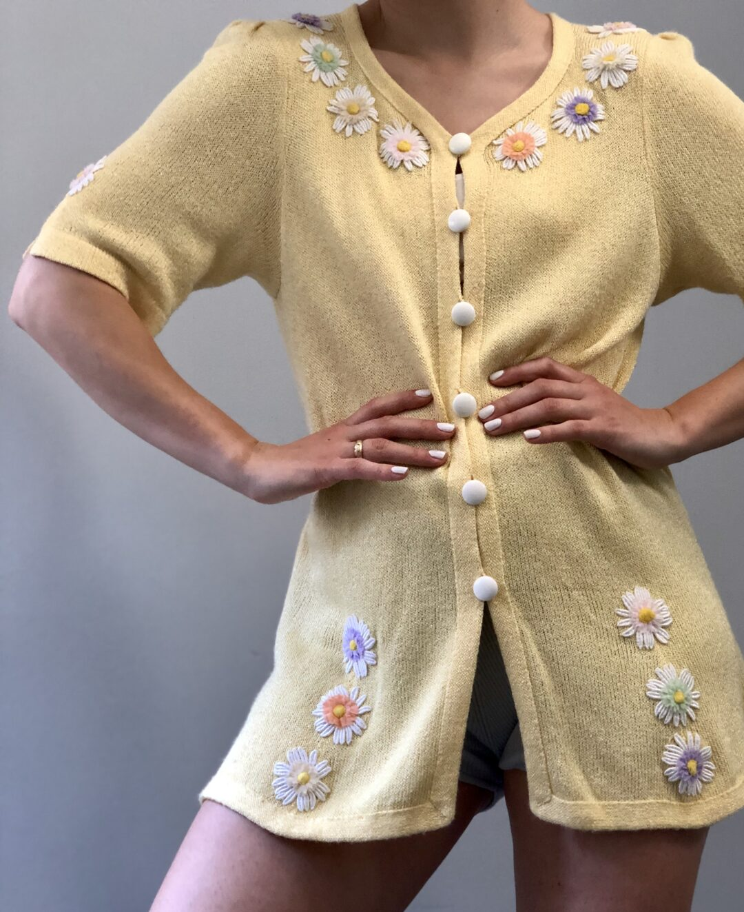 Vintage Collect23 daisy jacket