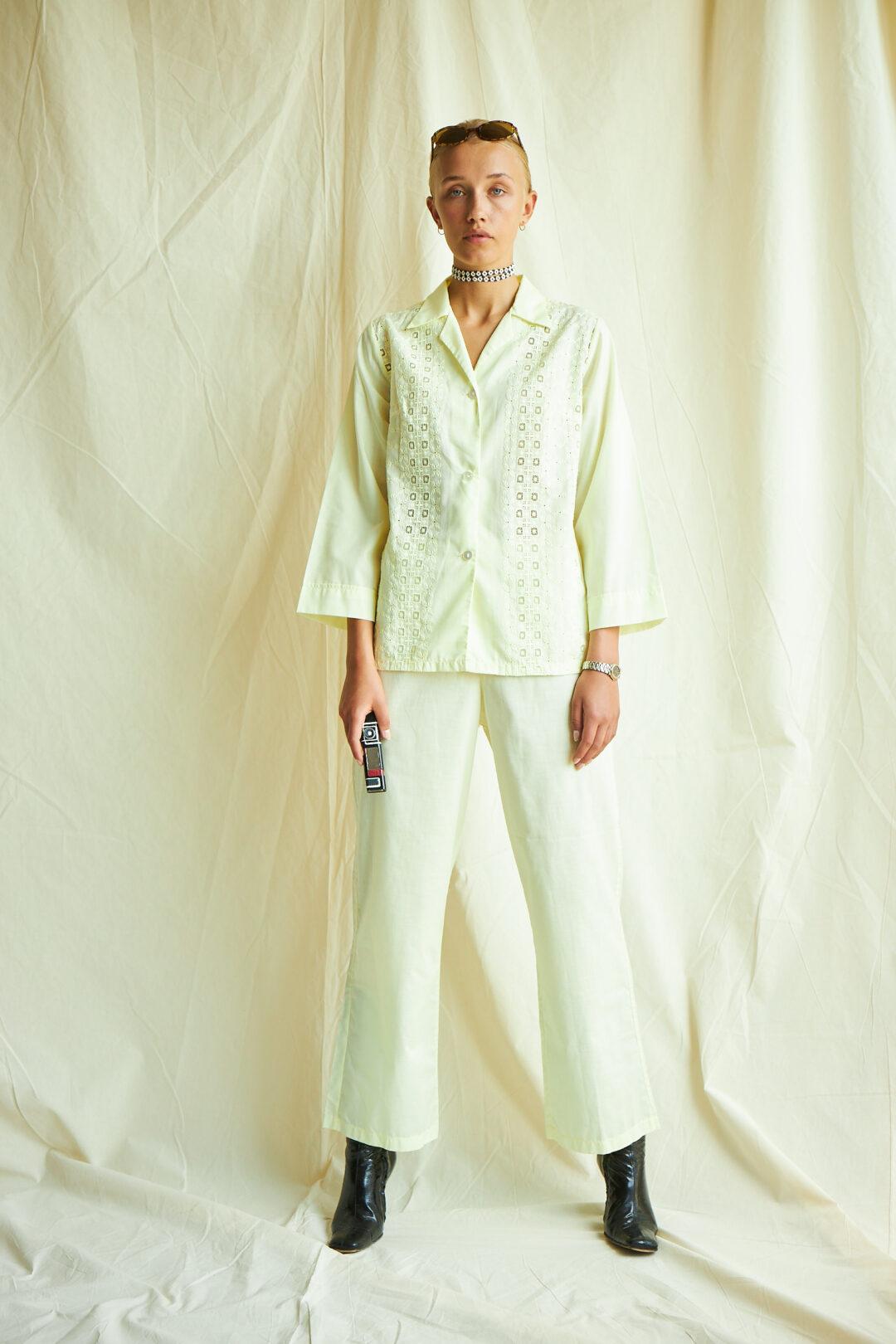 PJ pyjamas pastel yellow vintage