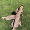 Vintage dress prairie floral button dress