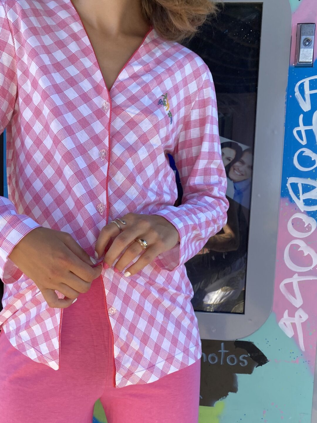 Pink pant suit collect23