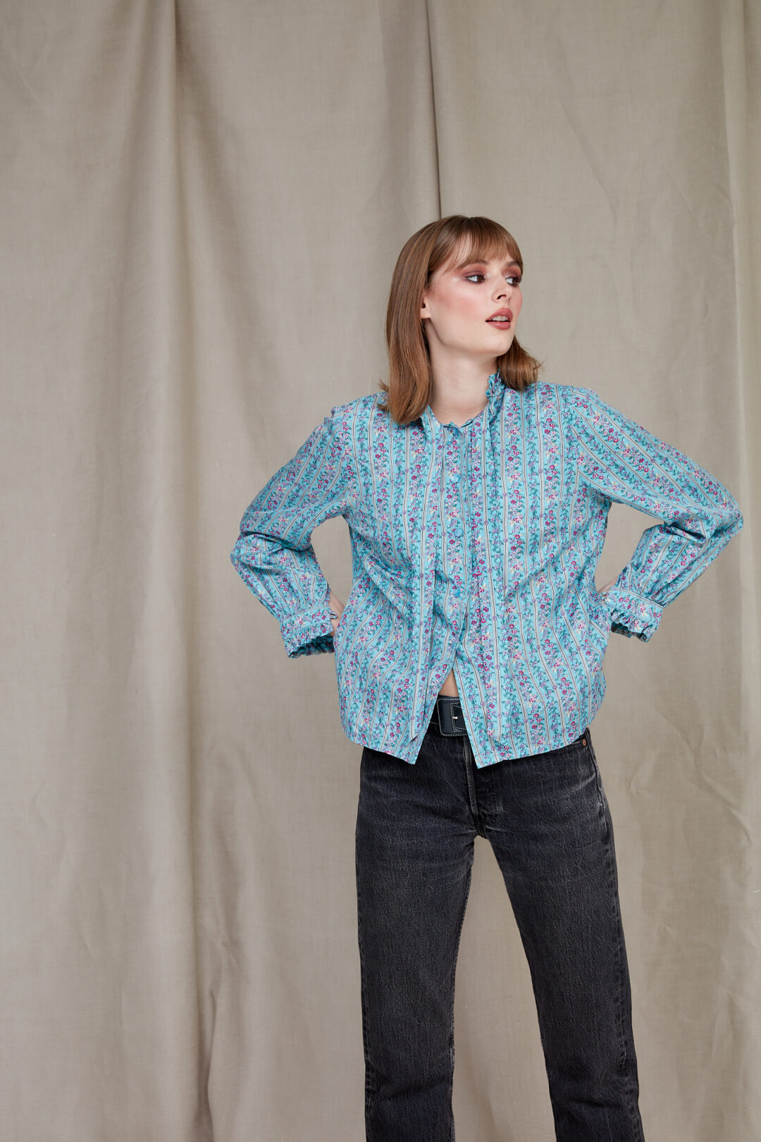 collect23 silk shirt